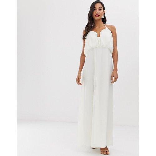 Robe longue dos-nu à corsage blousant - ASOS DESIGN - Modalova