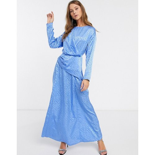 Robe longue en jacquard avec détail croisé - ASOS DESIGN - Modalova