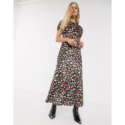 Robe longue imprimée en velours - ASOS DESIGN - Modalova