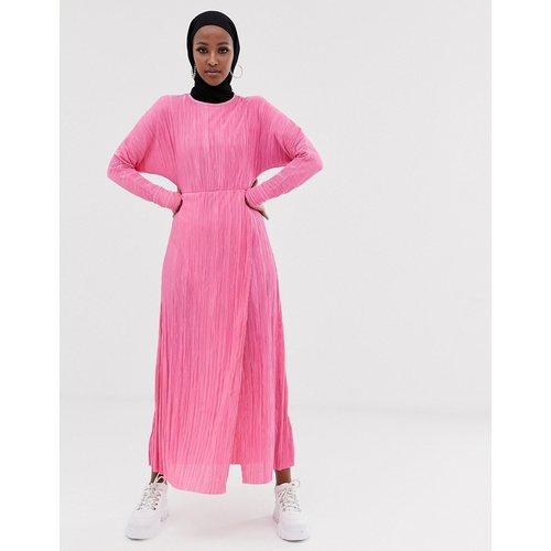 Robe longue plissée avec taille drapée - ASOS DESIGN - Modalova