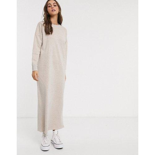 Robe longue sweat oversize - Avoine - ASOS DESIGN - Modalova