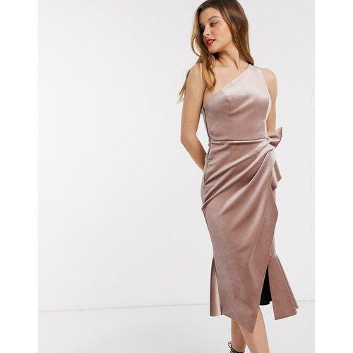 Robe mi-longue asymétrique en velours - ASOS DESIGN - Modalova