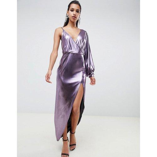 Robe mi-longue avec manche métallisée style 70s - ASOS DESIGN - Modalova