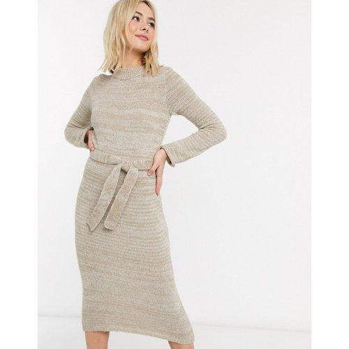 Robe mi-longue en maille avec ceinture - ASOS DESIGN - Modalova