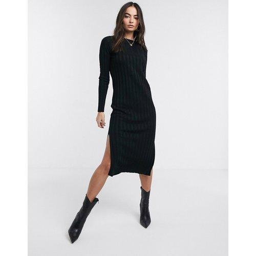 Robe mi-longue en maille fine côtelée - ASOS DESIGN - Modalova