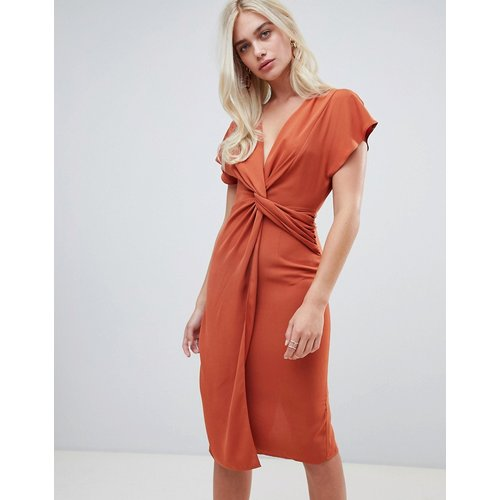 Robe mi-longue torsadée à manches kimono - ASOS DESIGN - Modalova