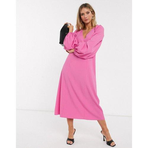 Robe mi-longue trapèze avec laçage au dos - ASOS DESIGN - Modalova