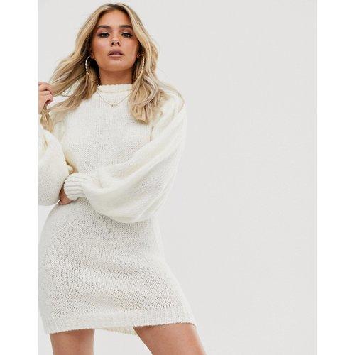 Robe pull courte en maille luxueuse à manches volumineuses - ASOS DESIGN - Modalova
