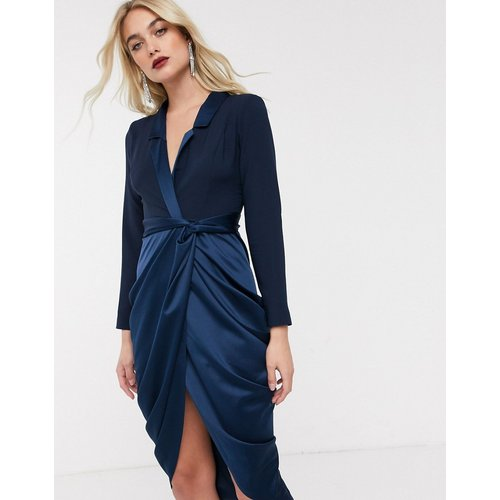 Robe smoking mi-longue en satin - ASOS DESIGN - Modalova