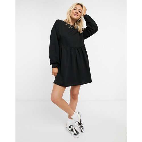 Robe sweat babydoll courte - ASOS DESIGN - Modalova