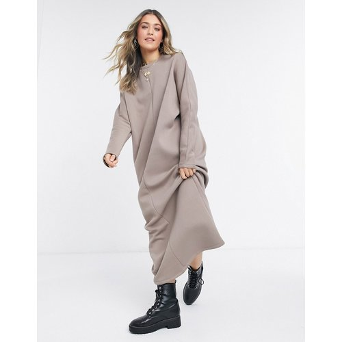 Robe sweat-shirt longue - Moka - ASOS DESIGN - Modalova