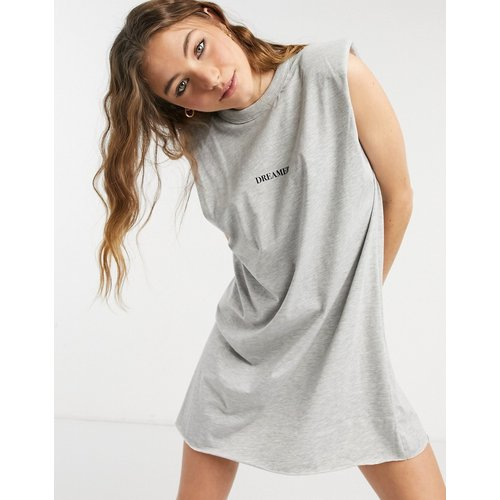 Robe t-shirt à épaulettes sans manches avec imprimé Dreamer - ASOS DESIGN - Modalova