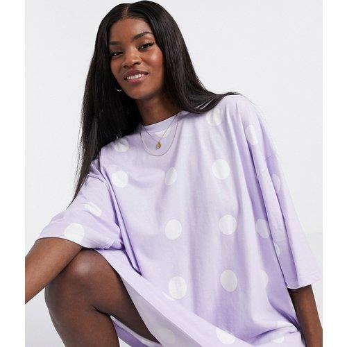 Robe t-shirt à pois - Lilas - ASOS DESIGN - Modalova