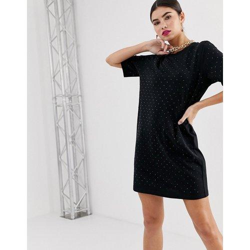 Robe t-shirt cloutée - ASOS DESIGN - Modalova