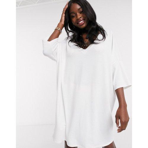 Robe t-shirt col V oversize - ASOS DESIGN - Modalova