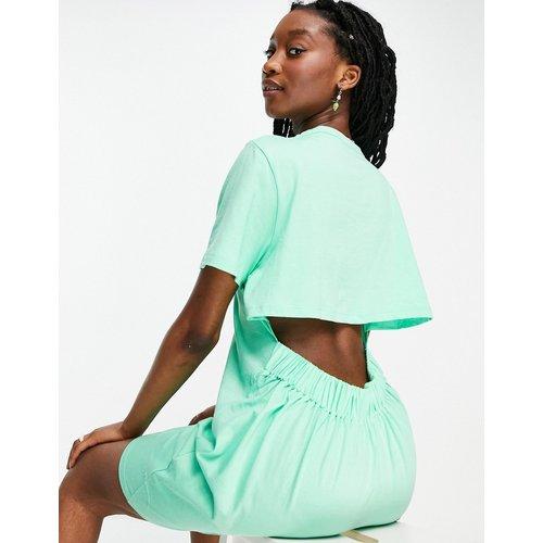 Robe t-shirt courte à dos ouvert - pomme - ASOS DESIGN - Modalova