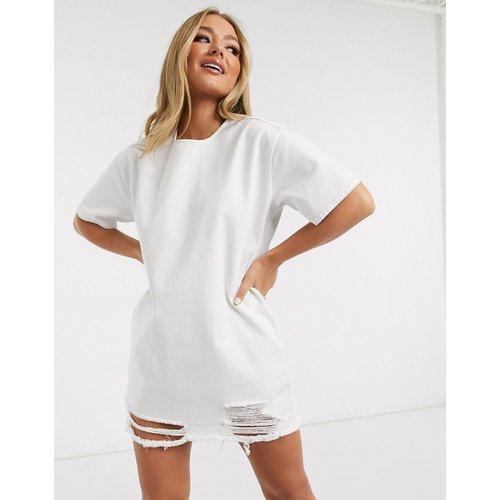 Robe t-shirt courte en jean - ASOS DESIGN - Modalova