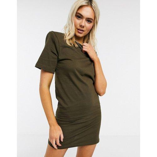 Robe t-shirt courte manches courtes à épaulettes - Kaki - ASOS DESIGN - Modalova