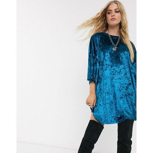 Robe t-shirt en velours - ASOS DESIGN - Modalova