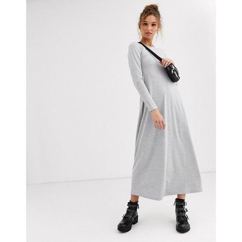 Robe t-shirt longue à manches longues - ASOS DESIGN - Modalova