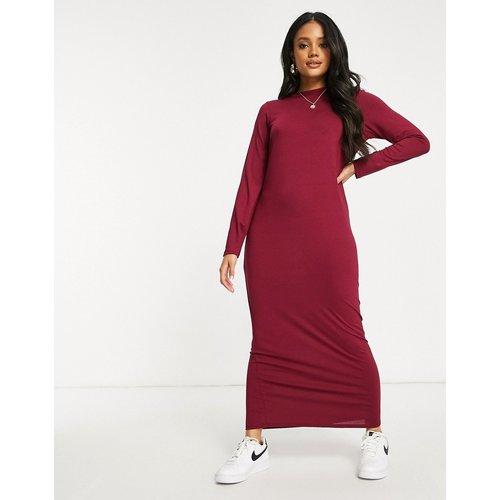 Robe t-shirt longue à manches longues - Rouge baie - ASOS DESIGN - Modalova