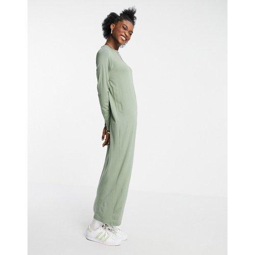 Robe t-shirt longue à manches longues - sauge - ASOS DESIGN - Modalova