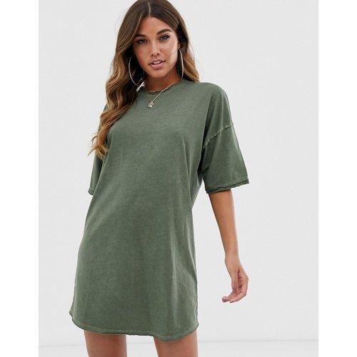 Robe t-shirt oversize à bords bruts - ASOS DESIGN - Modalova