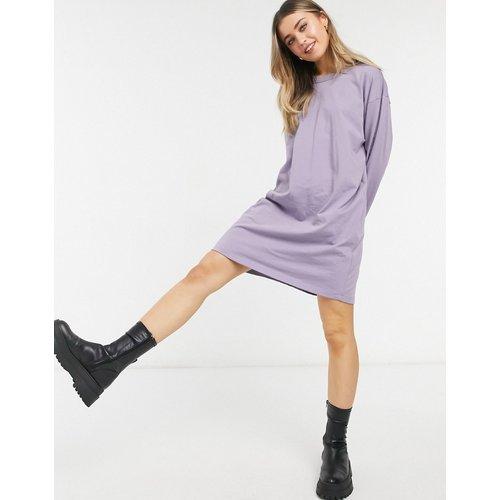Robe t-shirt oversize à manches longues - Cendre violette - ASOS DESIGN - Modalova