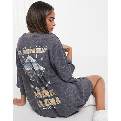 Robe t-shirt oversize avec imprimé phoenix - délavé - ASOS DESIGN - Modalova