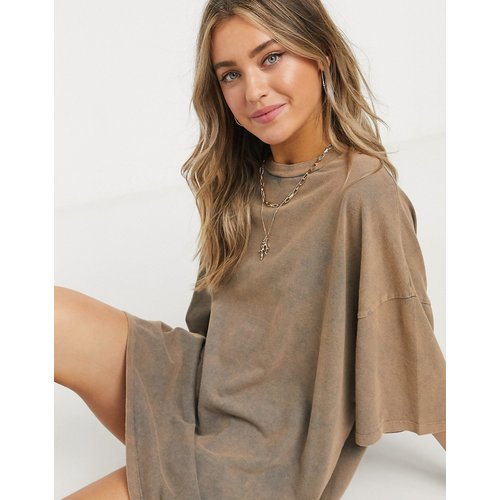Robe t-shirt oversize - Fauve - ASOS DESIGN - Modalova