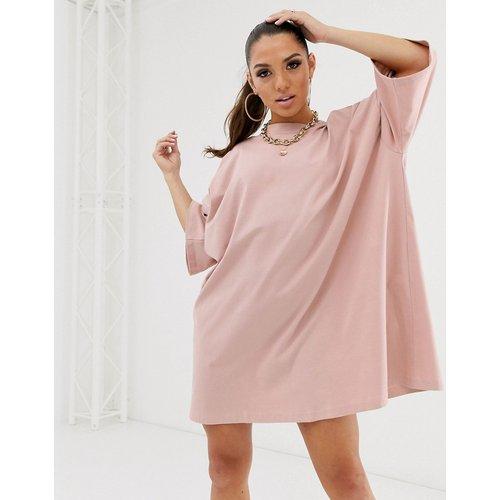 Robe t-shirt oversize - Vieux rose - ASOS DESIGN - Modalova