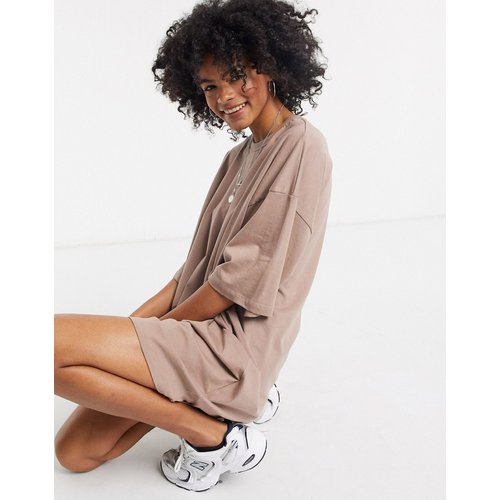 Robe t-shirt oversize - Vison - ASOS DESIGN - Modalova