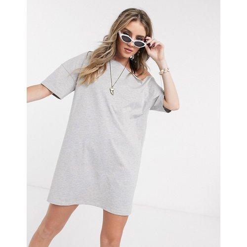 Robe t-shirtépauledénudée - chiné - ASOS DESIGN - Modalova