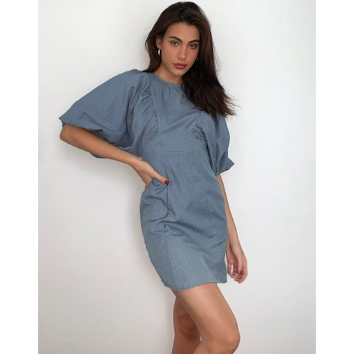 Robe texturée courte à manches bouffantes - ASOS DESIGN - Modalova