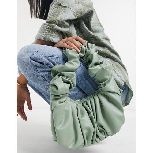 Sac porté épaule à grosses fronces- sauge - ASOS DESIGN - Modalova