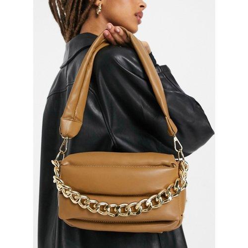 Sac porté épaule matelassé et rembourré avec chaîne épaisse - ASOS DESIGN - Modalova