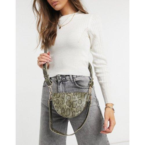 Sacoche à bandoulière avec bride épaule amovible - serpent - ASOS DESIGN - Modalova