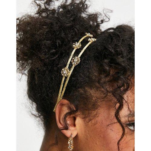 Serre-tête en métal avec fleurs - ASOS DESIGN - Modalova