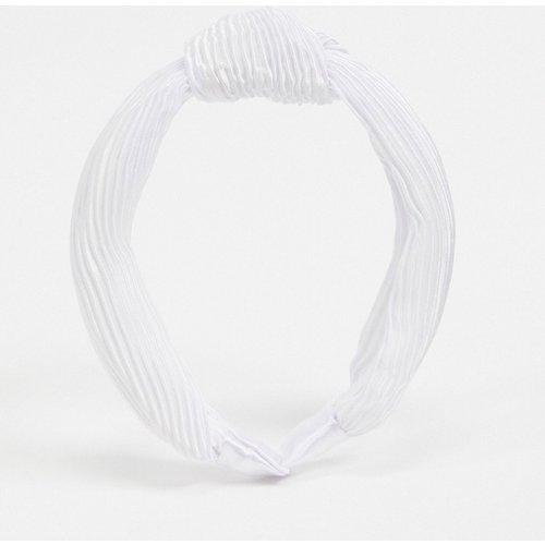 Serre-tête noué et plissé en satin - ASOS DESIGN - Modalova