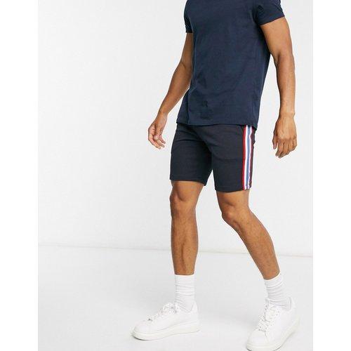 Short ajusté en jersey avec bande en maille sur le côté - Bleu marine - ASOS DESIGN - Modalova