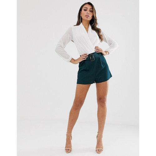 Short avec ceinture - Bleu sarcelle - ASOS DESIGN - Modalova