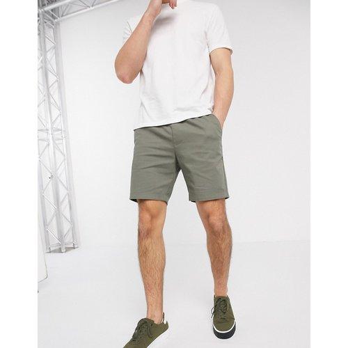 Short chino skinny à taille élastique - Kaki - ASOS DESIGN - Modalova