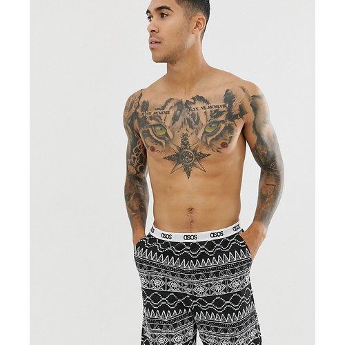 Short de pyjama avec imprimé aztèque et taille griffée - ASOS DESIGN - Modalova