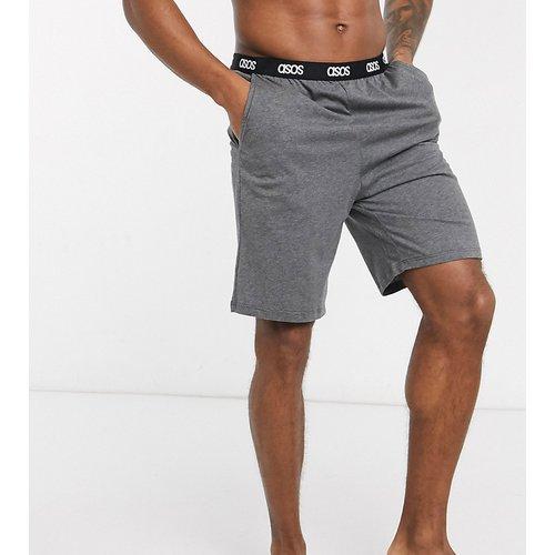 Short de pyjama confort avec taille griffée - Anthracite chiné - ASOS DESIGN - Modalova