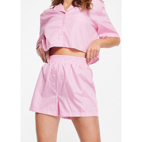 Short de pyjama style caleçon à carreaux - ASOS DESIGN - Modalova