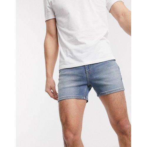 Short en jean ajusté - délavé moyen - ASOS DESIGN - Modalova