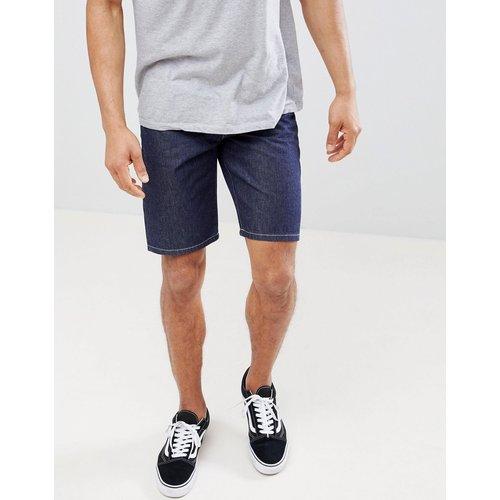 Short en jean slim à surpiqûres contrastantes - Indigo - ASOS DESIGN - Modalova