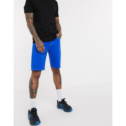 Short en jean slim - de cobalt - ASOS DESIGN - Modalova