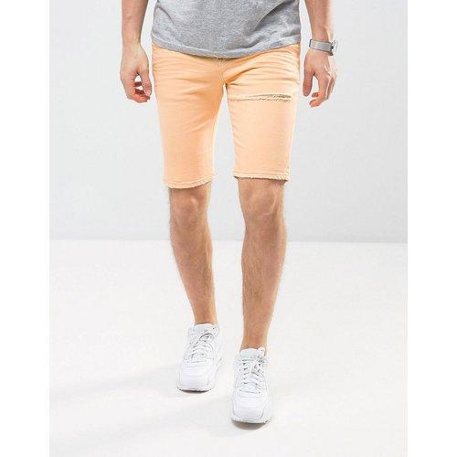 Short en jean super skinny avec déchirures - Pêche - ASOS DESIGN - Modalova