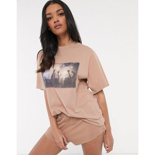 Short et t-shirt oversize motif photo - ASOS DESIGN - Modalova